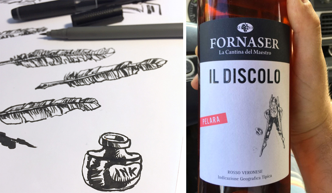 Adrem - Illustrazioni etichette vino Fornaser