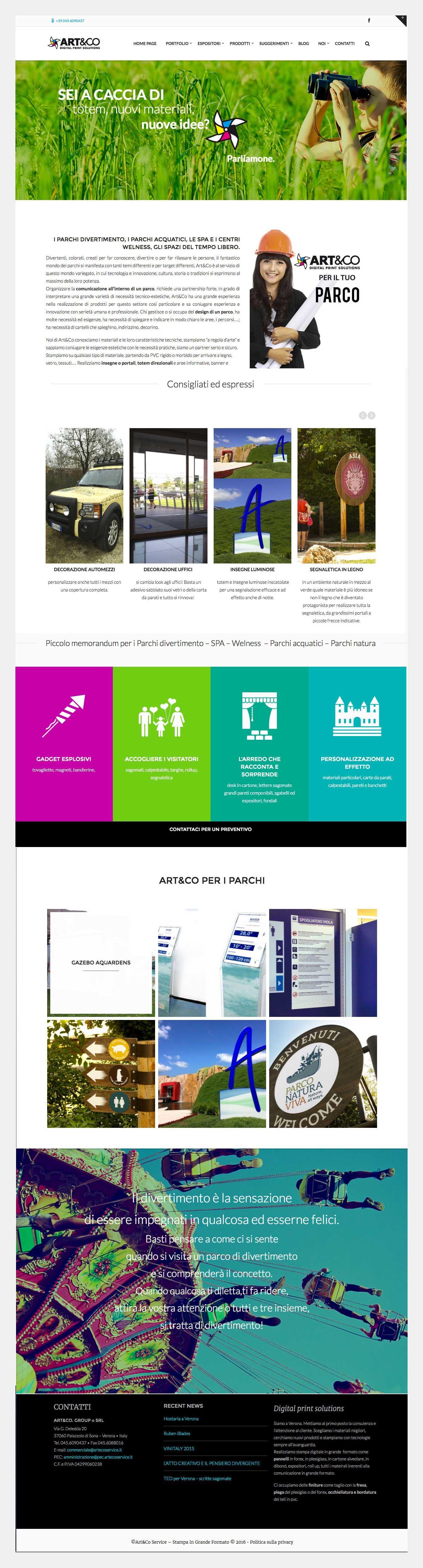 Web design omanu Arteco service