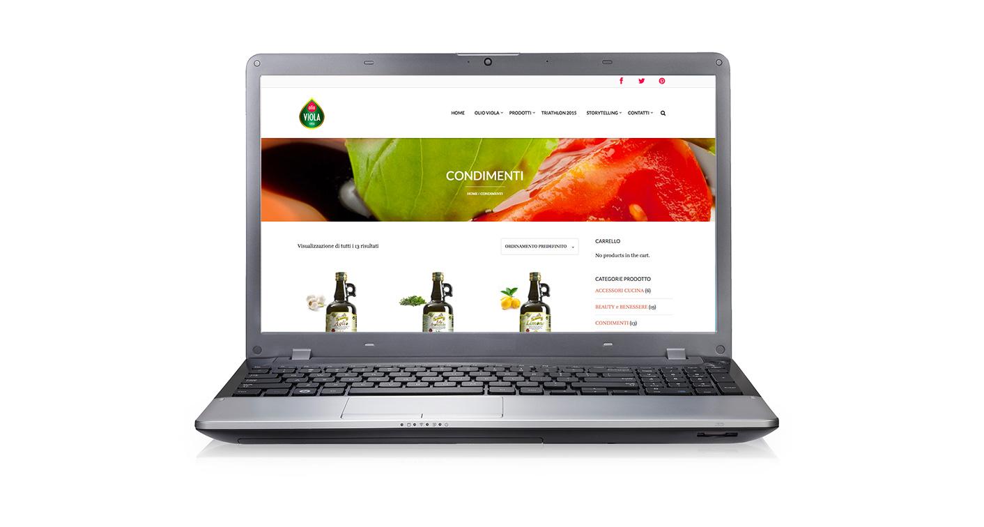 olio viola web design omanu - shop on line