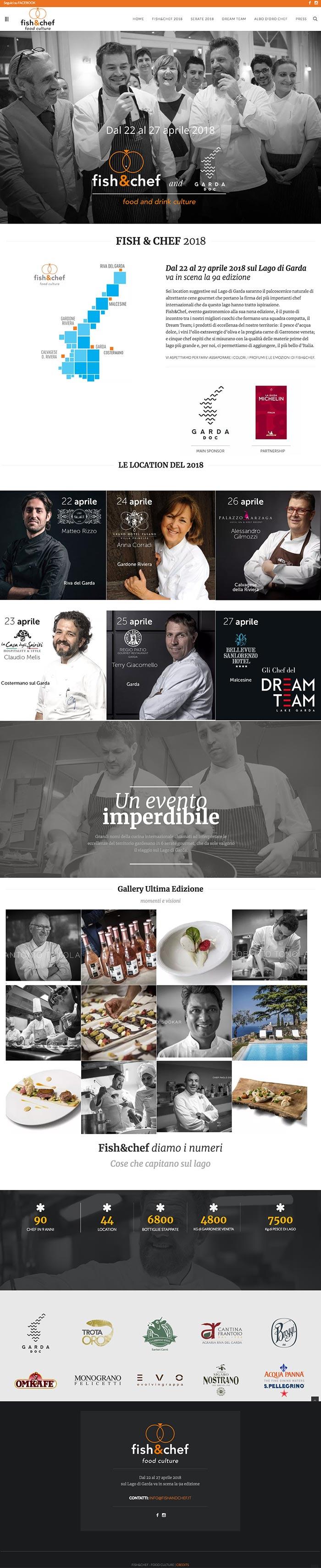 fish&chef - evento sul Lago di garda con chef a 2 stelle. Web omanu
